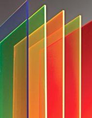 Støbt Neon akryl, Akrylplader i forskellige neon farver