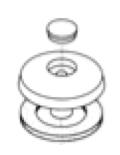 Sikringsskive 10 og 16 mm mod opadrettede vindkræfter Diamenter 50 mm