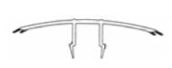 PVC dækliste med tætningslæber til Thermoflex tag