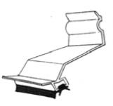Inddækningsprofil Aluminium med tætningslæbe