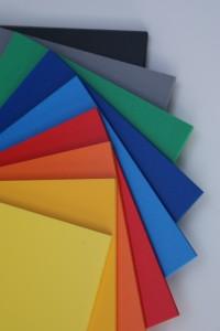 Farvet PVC, Farvet opskummet PVC Plader