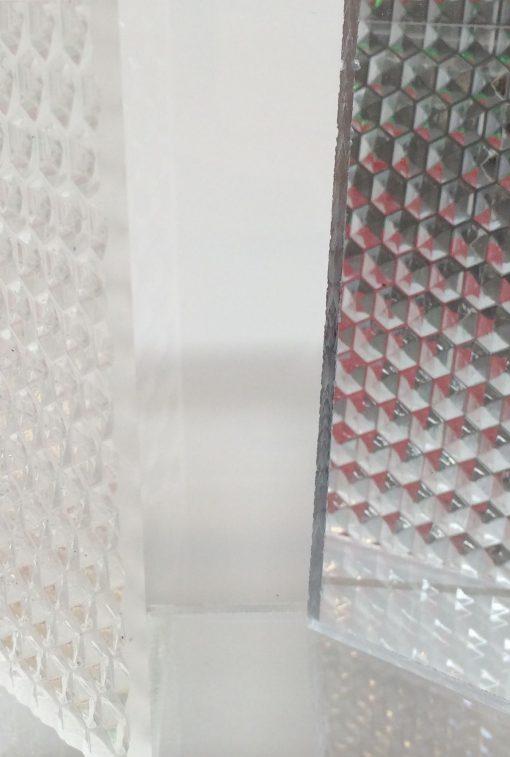 special akryl mønstret og struktur, råglas,