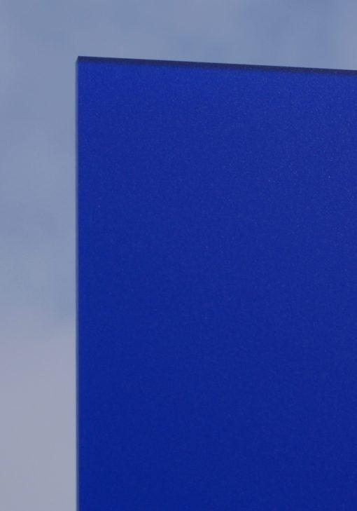 Deigaard plasts frosted akrylplade i farven blå