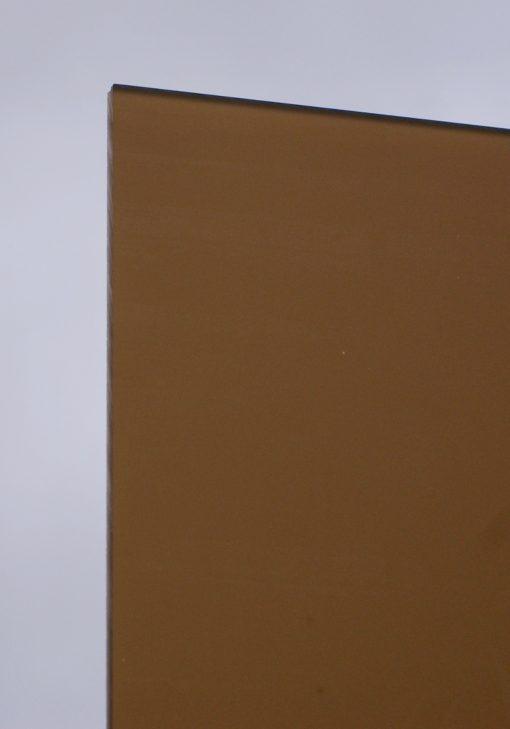 Deigaard plasts frosted akrylplade i farven brun