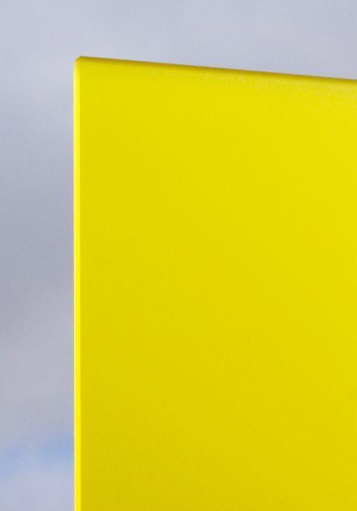 Deigaard plasts frosted akrylplade i farven gul