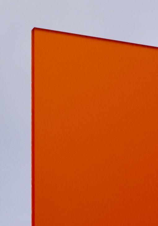 Deigaard plasts frosted akrylplade i farven orange