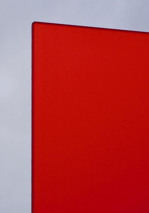 Deigaard plasts frosted akrylplade i farven rød