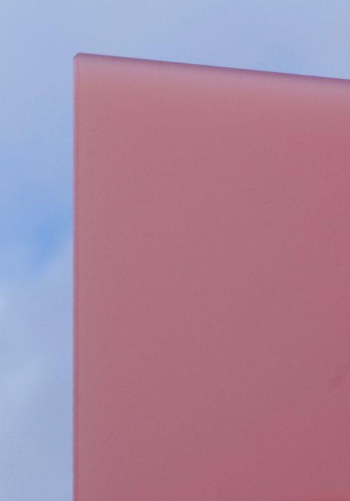 Deigaard plasts frosted akrylplade i farven rosa