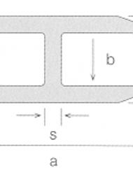 H-profil af akryl