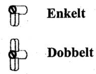 Nylonvridere med skrue til 2, 3, 4 og 5 mm med og uden kantliste