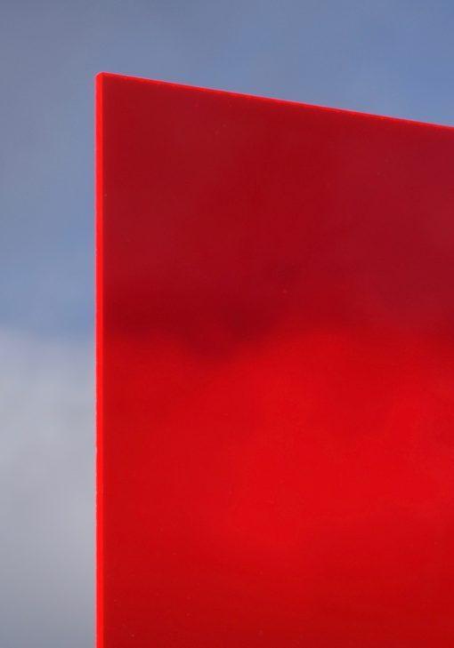 Deigaard plasts støbt akryl i neon rød