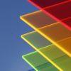 Neonfarvede akrylplader