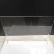 klar akryl / plexiglas brugt som afskærmning